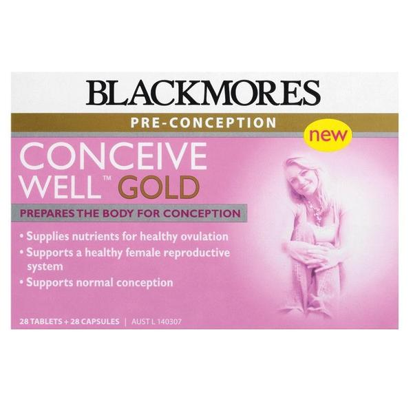 블랙모어스 컨시브 웰 골드28정+28캡슐 Blackmores Conceive Well Gold 56 Tablets 28 Tablets + 28 Capsules