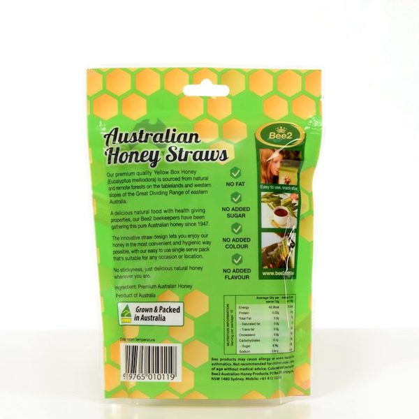 Bee2 비투 호주 유칼립투스 허니스틱 192g  Bee2 Australia Eucalyptus Honey Straws 192g