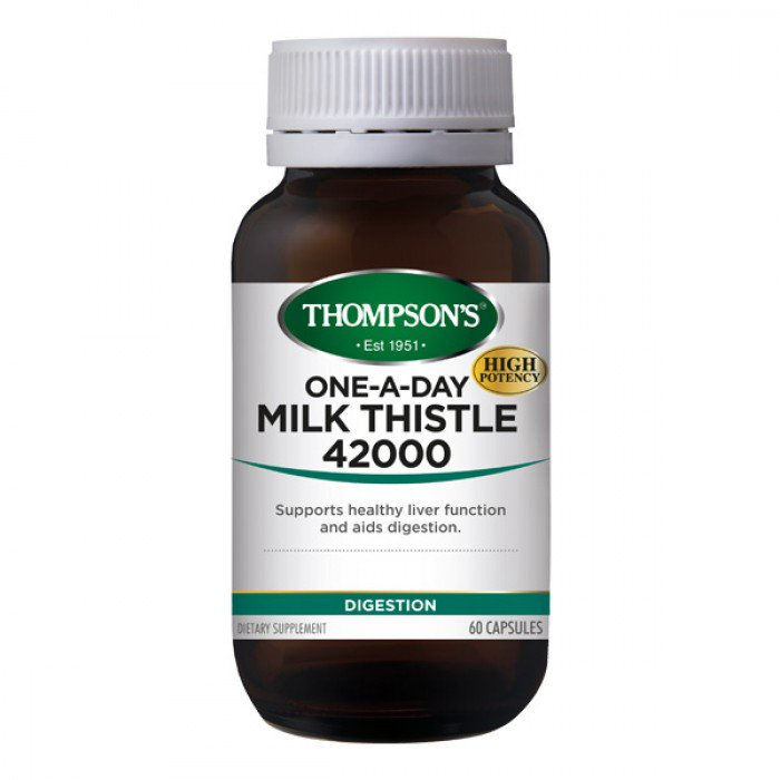 톰슨 밀크씨슬 42000mg 60정 Thompson's Milk Thistle 42000mg 60 Capsules