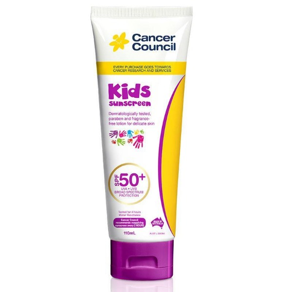 캔서카운실 SPF 50+ 키즈 110ml 튜브, Cancer Council SPF 50+ Kids 110ml Tube