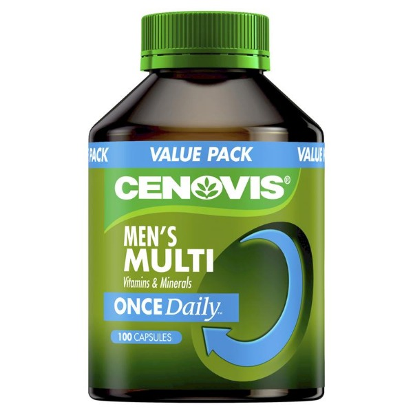 세노비스남성멀티비타민&미네랄100캡슐[Cenovis] Once Daily Mens Multivitamins & Minerals 100 Capsules Value