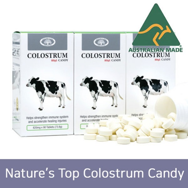 네이쳐스탑 초유캔디 세트 (80IgG)820mg Nature's Top Colostrum (80IgG)820mg 90 x 3