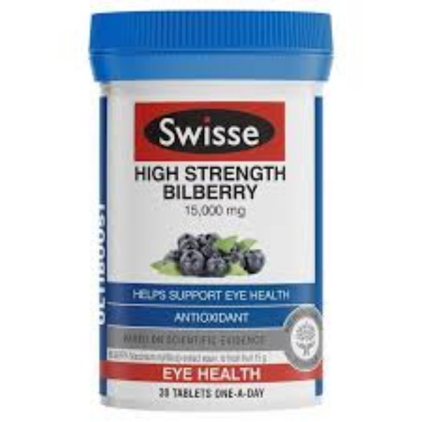 스위스 고함량 빌베리 15000mg 30정 Swisse Ultiboost Bilberry 30 Tablets