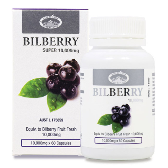 네이쳐스탑 빌베리 10000mg 60정  Nature's Top Bilberry 10000mg 60 Capsules