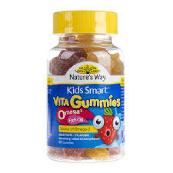 네이쳐스웨이 키즈스마트 비타구미 오메가3, 피쉬오일 60정(딸기,체리,레몬)  NATURES WAY KIDS SMART VITA GUMMIES OMEGA3 FISH OIL 60GUMMIES(STRAWBERRY, LEMON AND CHERRY FLAVOUR)- (EXP2020.08.30)