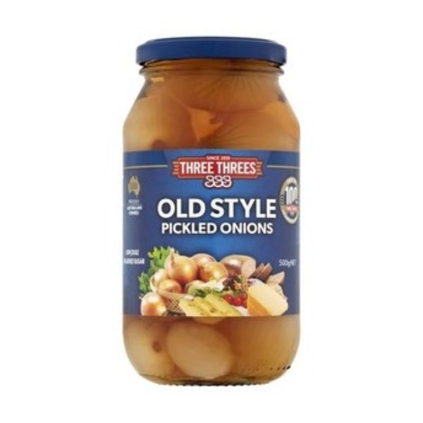 Three Threes Old Style Pickled Onions 500g