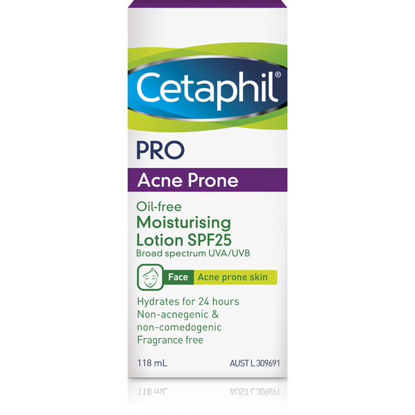 세타필 더마컨트롤 모이스쳐라이징 로션 SPF25+ 118ml, Cetaphil DermaControl Moisturising Lotion SPF25+ 118ml