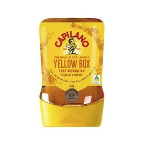 Capilano Delicate and Smooth Yellow Box Honey Upside Down 340g