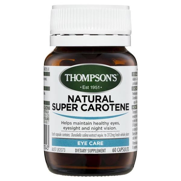 톰슨 내츄럴 슈퍼 캐로틴 60 정 Thompsons Natural Super Carotene 60 Capsules