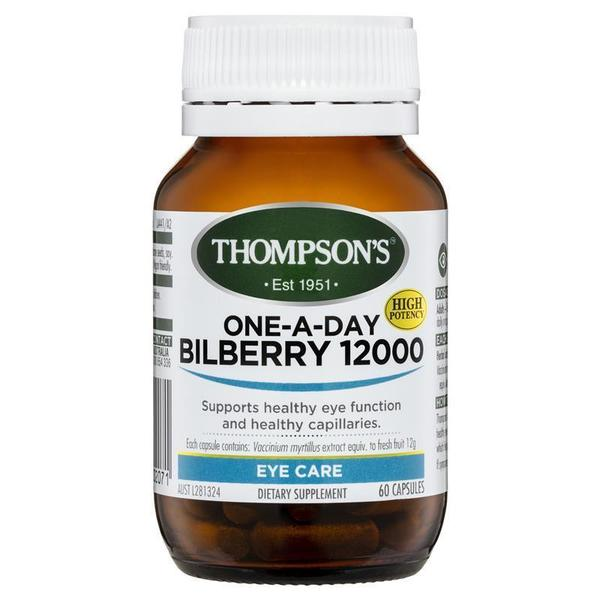 톰슨 원-어-데이 빌베리 12000mg 60 정 Thompsons One-A-Day Bilberry 12000mg 60 Capsules