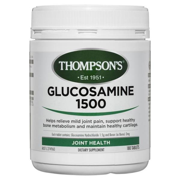 톰슨 글루코사민 1500mg 180 타블렛 Thompsons Glucosamine 1500mg 180 Tablets