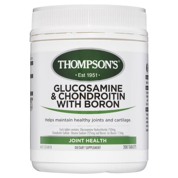 톰슨 글루코사민 and 콘드로이틴 윗 보론 200 타블렛 Thompsons Glucosamine and Chondroitin with Boron 200 Tablets