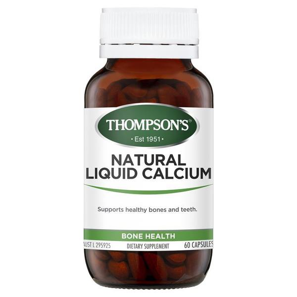 톰슨 내츄럴 리퀴드 칼슘 60 정 뉴포뮬러 Thompsons Natural Liquid Calcium 60 Capsules New Formula