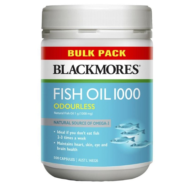 블랙모어스 무취오메가3 1000mg 500정 BLACKMORES Odourless Fish Oil 1000mg 500 Caps