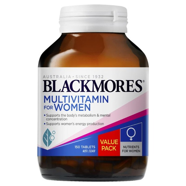 블랙모어스 여성 멀티비타민 150정 Blackmores Multivitamin for Women 150 Tablets Exclusive