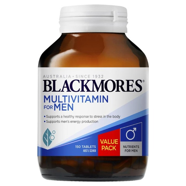 블랙모어스 남성 멀티비타민150정 Blackmores Multivitamin for Men 150 Tablets Exclusive