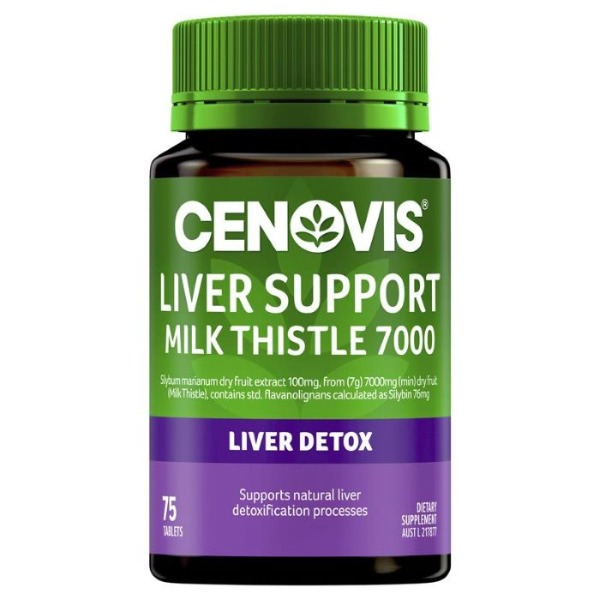 세노비스리버서포트밀크씨슬7000mg 75정[Cenovis] Liver Support Milk Thistle 7000mg 75 Tablets