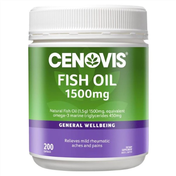 세노비스무취피쉬오일1500mg 200정[Cenovis] Odourless 1500mg Fish Oil 200 Soft Capsules