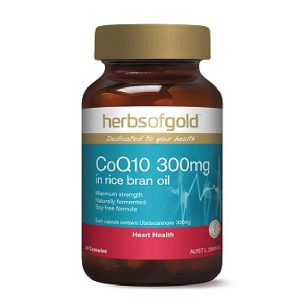 허브 오브 골드 큐텐 300mg0c, Herbs Of Gold Co Q10 300mg in Rice Bran Oil 30c