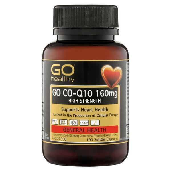 고헬씨 CoQ10 160mg 100정 GO Healthy CoQ10 160mg 100 Softgel Capsules