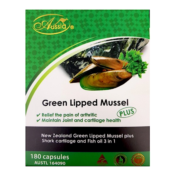 오지아 초록홍합 180정 Aussia GREEN LIPPED MUSSEL+SHARK CARTIKAGE 180C