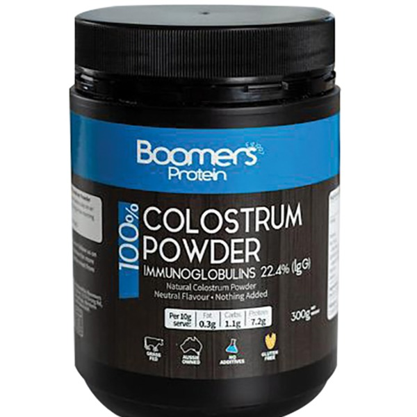 부머스초유 파우더 (이뮤노글로뷸린)IgG) 300g, Boomers 100% Colostrum Powder (Immunoglobulins 25% IgG) 300g