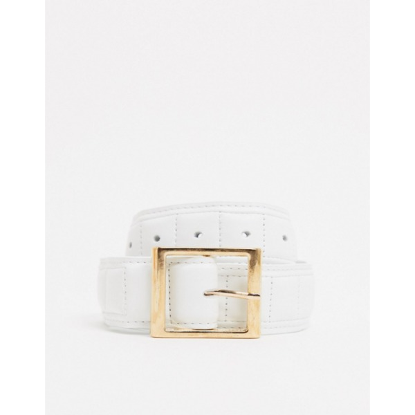 ASOS DESIGN quilted hip and waist jeans belt in white PRODUCT CODE1723552