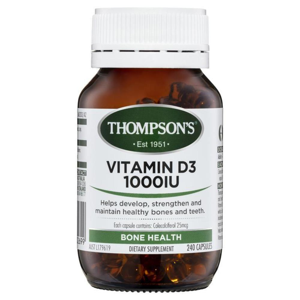 톰슨 비타민 D3 1000iu 240 정 Thompsons Vitamin D3 1000IU 240 Capsules